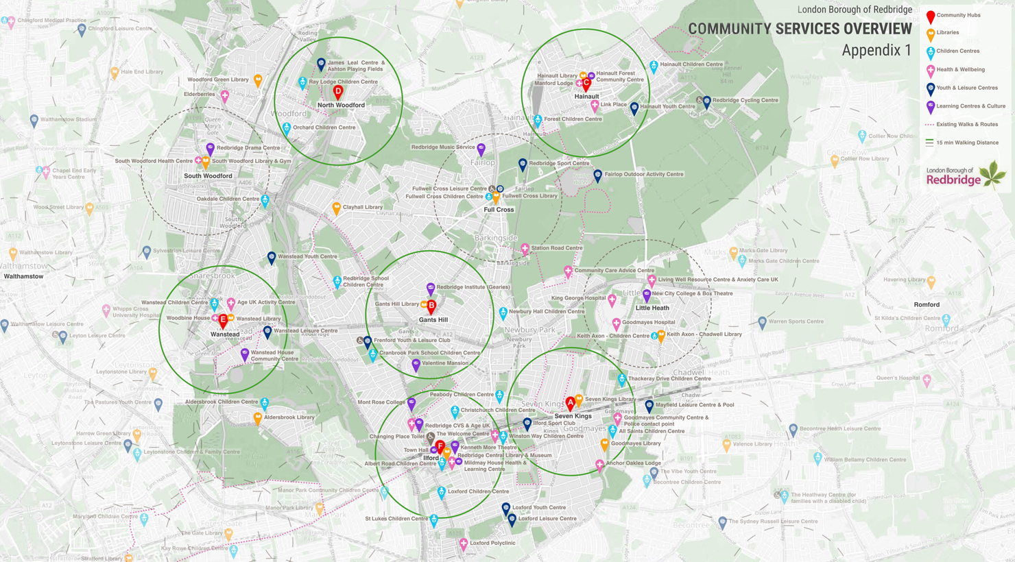 698 - Redbridge - 1 - community services map